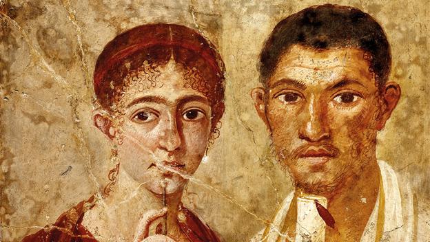 Portrait of baker Terentius Neo and his wife. Pompeii, AD 55–79. © DeAgostini/SuperStock