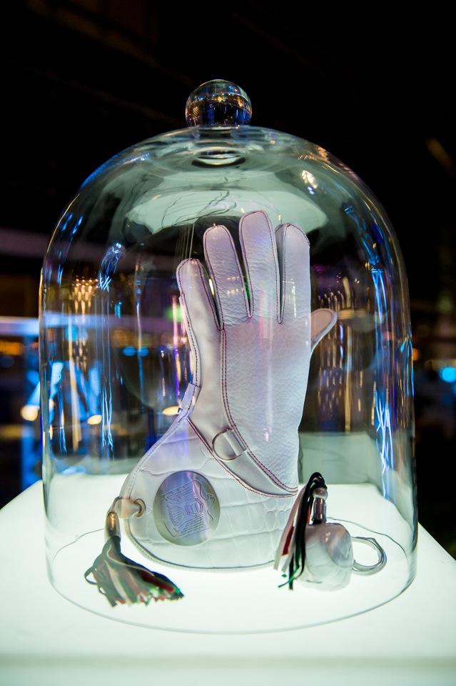 World's first Montblanc Falcon Glove - Abu Dhabi Nov 2013
