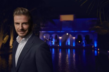 David Beckham hosts friends at a private HAIG CLUB™ event in Miami